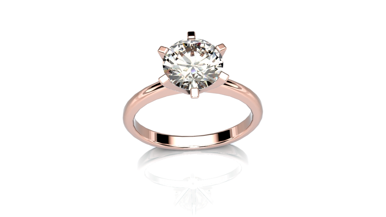 6 Claw Solitaire engagement ring