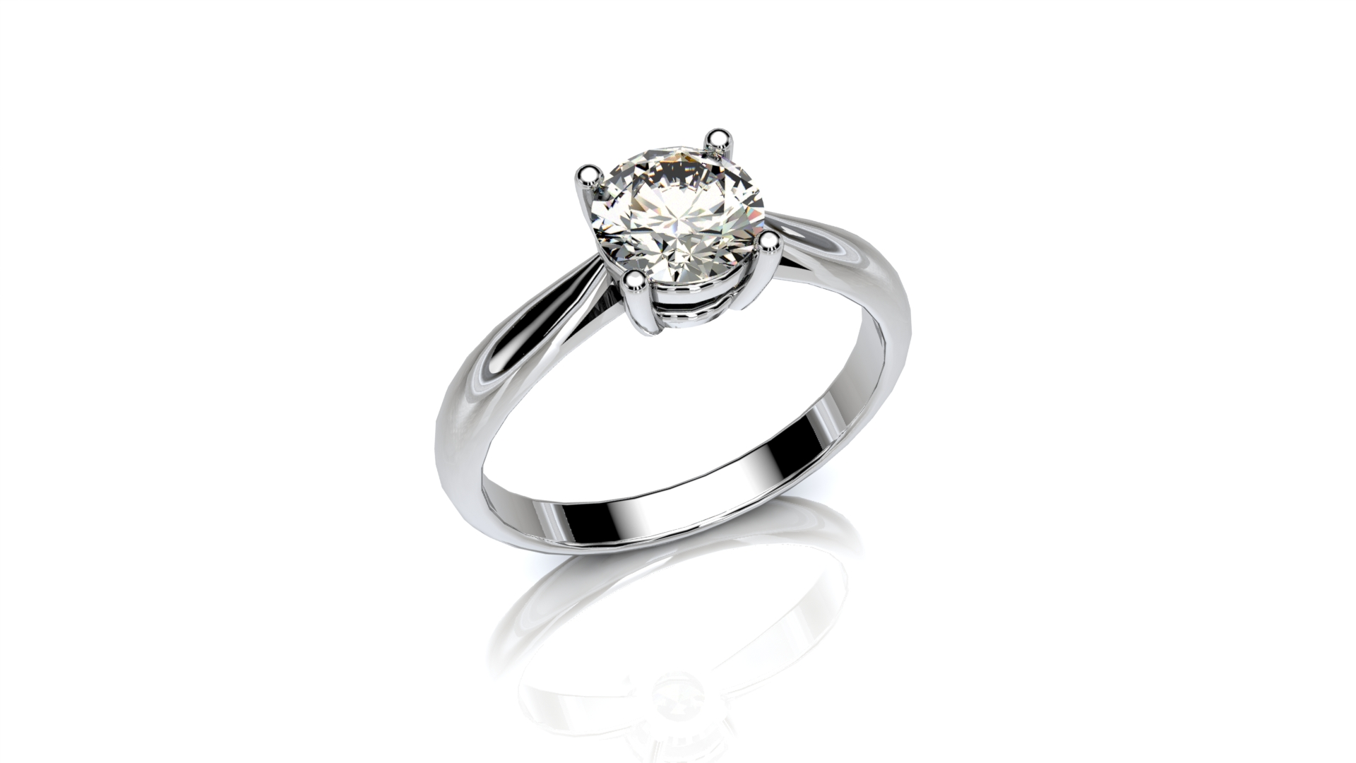 Four claw knife edge engagement ring