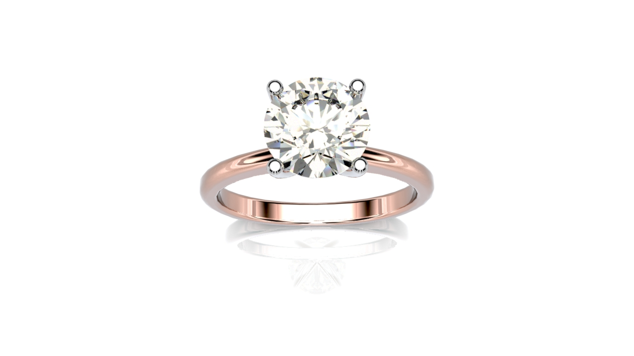 four claw two tone engagement ring