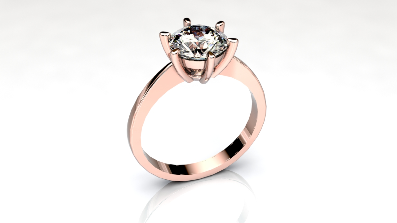 six claw knife egde solitaire engagement ring